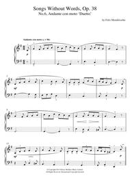 Song Without Words, Op. 38, No. 6 'Duetto'