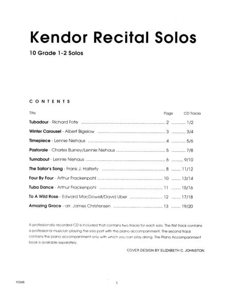 Kendor Recital Solos - Tuba - Solo Book