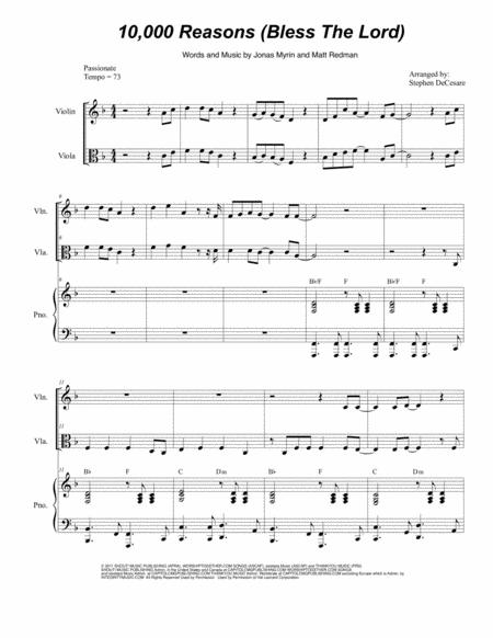 10,000 Reasons (Bless The Lord) (Duet for Violin and Viola)