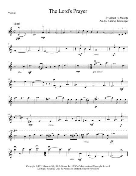 The Lord's Prayer - String Quartet