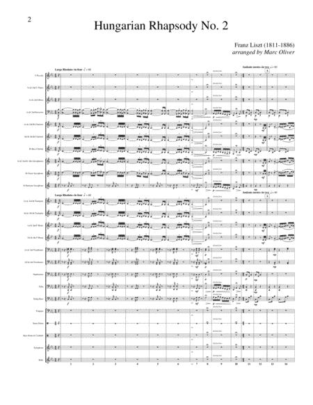 Hungarian Rhapsody No. 2 Transcribed for Concert Band