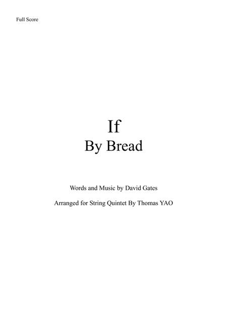 If by Bread for String Quintet/Orchestra