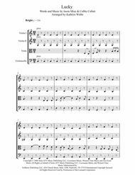 Lucky - Jason Mraz & Colbie Callait for String Quartet