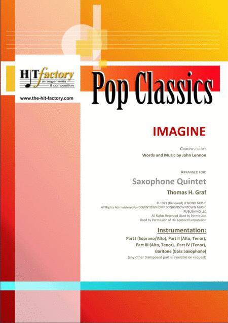 Imagine - John Lennon's Classic  - Saxophone Quintet