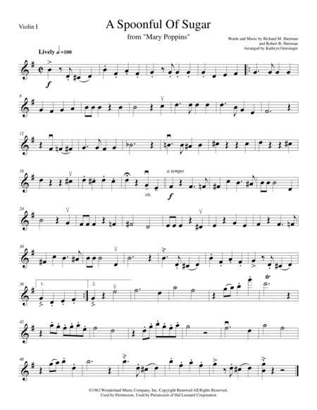 A Spoonful Of Sugar (Mary Poppins) String Quartet