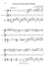 Lament for Owen Roe O'Neill for flute, clarinet and guitar