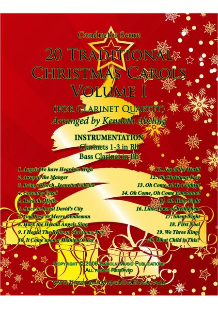 20 Traditional Christmas Carols Volume I (for Clarinet Quartet)