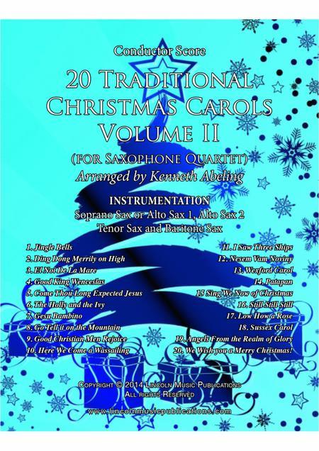 20 Traditional Christmas Carols Volume II (for Saxophone Quartet SATB or AATB)