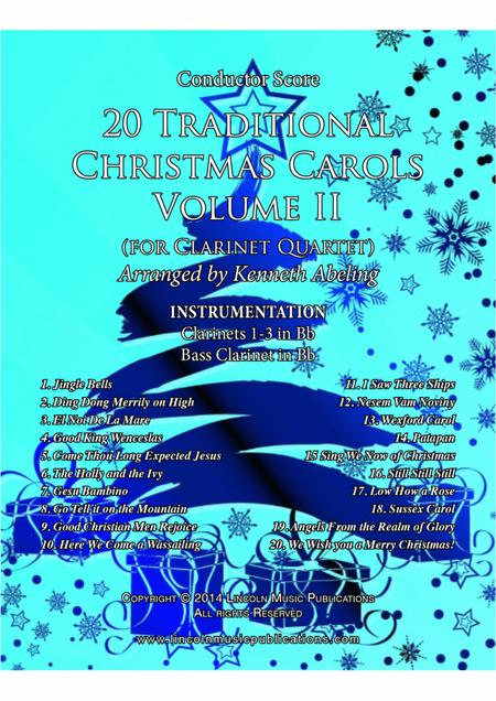 20 Traditional Christmas Carols Volume II (for Clarinet Quartet)