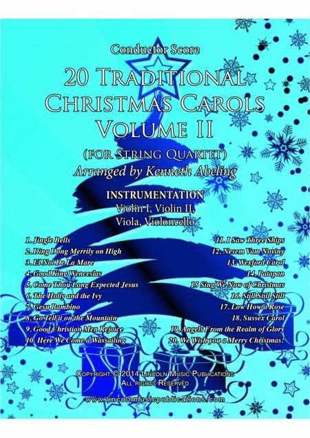 20 Traditional Christmas Carols Volume II (for String Quartet)