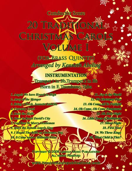 20 Traditional Christmas Carols Volume I (for Brass Quintet)
