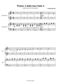 Walzer 2 from Jazz Suite 2 for piano 4 hands
