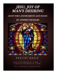 Jesu, Joy Of Man's Desiring (Duet for C-Instruments and Piano)