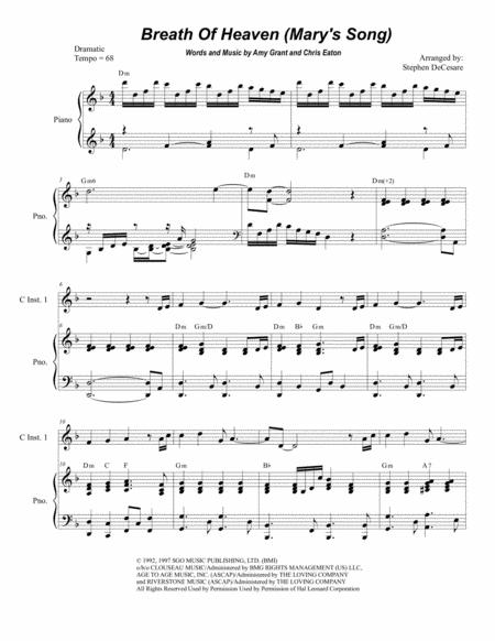 Breath Of Heaven (Mary's Song) (Duet for C-Instruments)