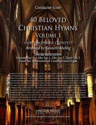40 Beloved Christian Hymns Volume II (for Saxophone Quintet SATTB & AATTB and optional Organ)
