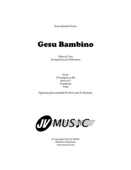 Gesu Bambino (The Infant Jesus) for Brass Quintet