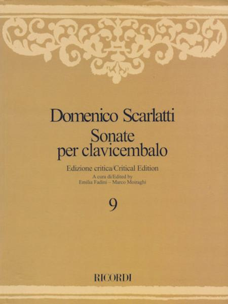 Sonate per Clavicembalo Volume 9 Critical Edition