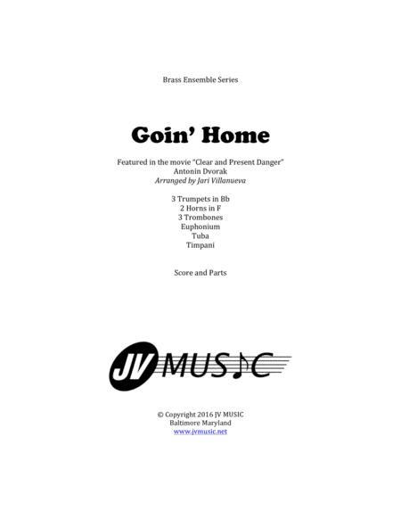 Goin' Home by Antonin Dvorak for Brass Ensemble