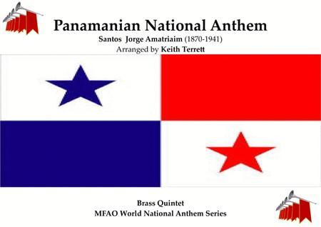 Panamanian (Himno Istmeño -Himno Nacional de Panama) National Anthem for Brass Quintet