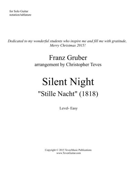 Silent Night, easy guitar solo with tab