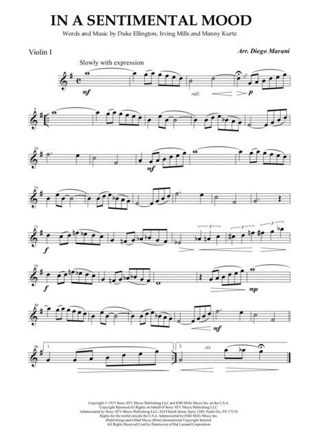 In A Sentimental Mood for String Quartet