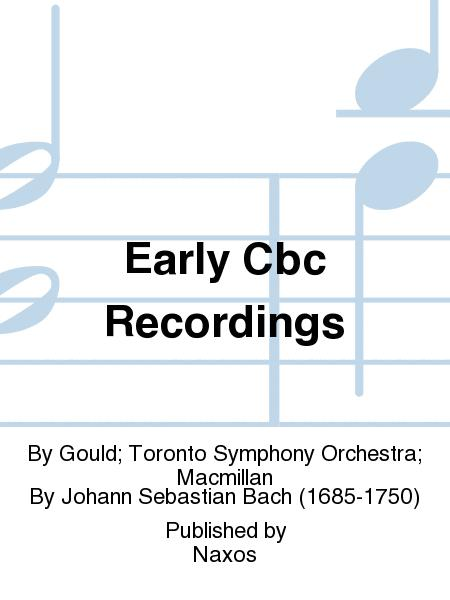 Early Cbc Recordings