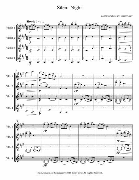 Silent Night (4 Violins)
