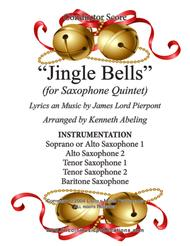 Jingle Bells (for Saxophone Quintet SATTB or AATTB)
