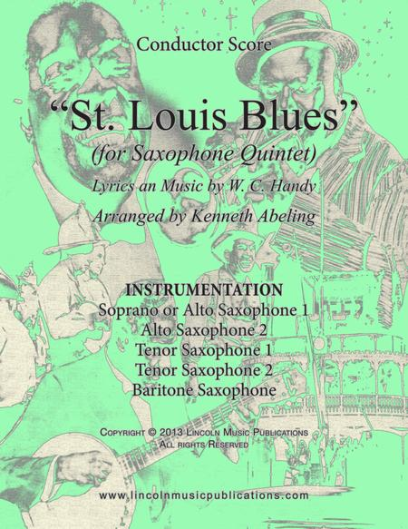 St. Louis Blues (for Saxophone Quintet SATTB or AATTB)