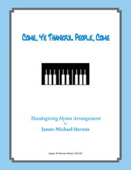 Come Ye Thankful People Come - Thanksgiving Piano
