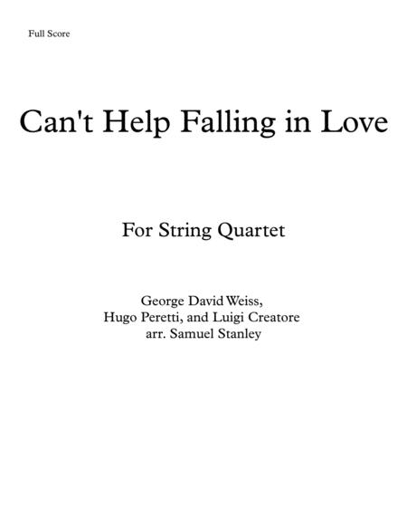Can't Help Falling In Love (For String Quartet)