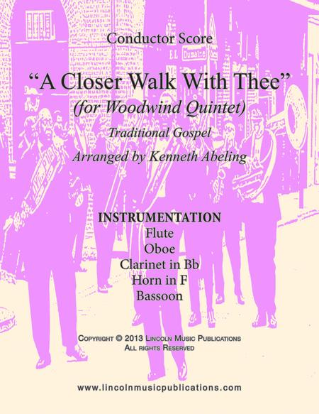A Closer Walk With Thee (for Woodwind Quintet)