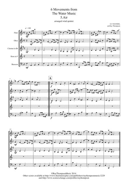 Handel: 6 Movements from