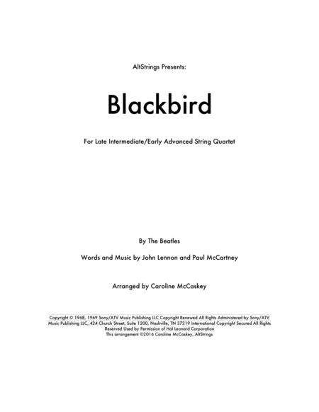 Blackbird - String Quartet