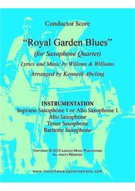 Royal Garden Blues (for Saxophone Quartet SATB or AATB)