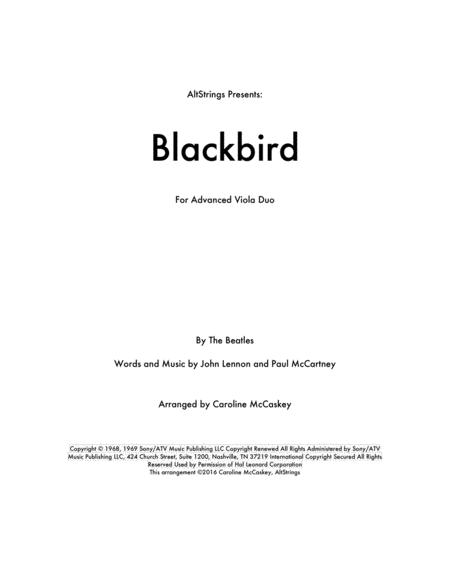 Blackbird - Viola Duet