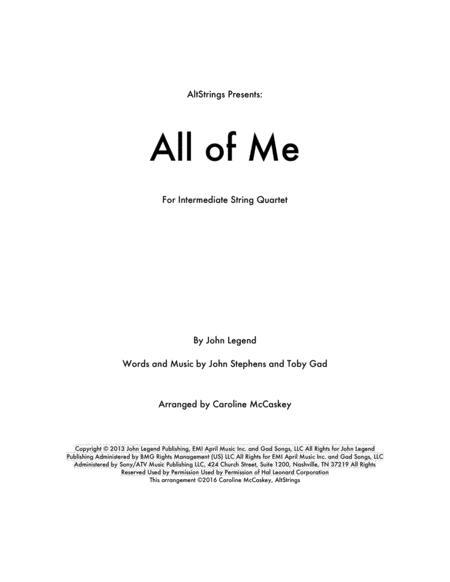 All Of Me - String Quartet