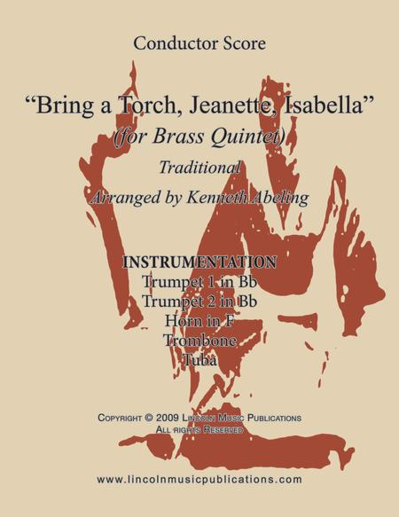 Bring a Torch Jeanette, Isabella (for Brass Quintet)