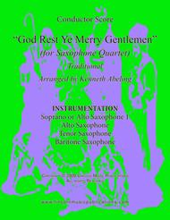God Rest Ye Merry Gentlemen (for Saxophone Quartet SATB or AATB)