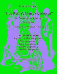 God Rest Ye Merry Gentlemen (for Saxophone Quintet SATTB or AATTB)