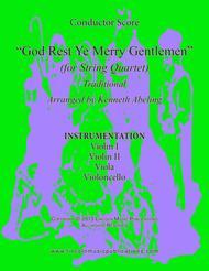 God Rest Ye Merry Gentlemen (for String Quartet)