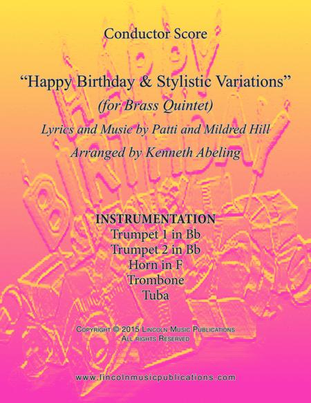 Happy Birthday and Stylistic Variations (for Brass Quintet)