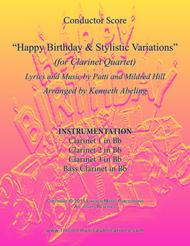 Happy Birthday and Stylistic Variations (for Clarinet Quartet)