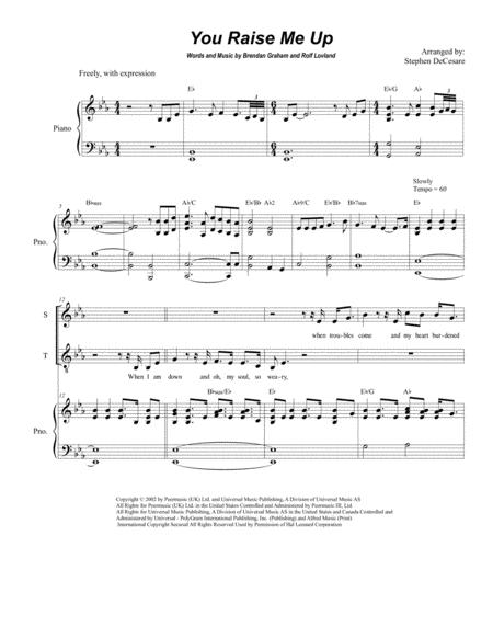 You Raise Me Up (Duet for Soprano and Tenor Solo)