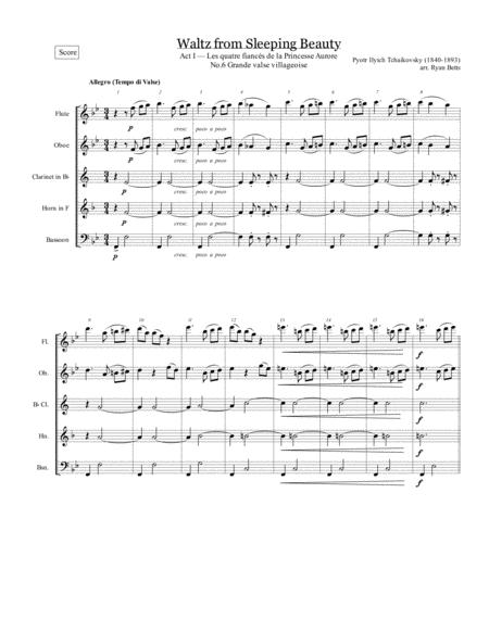 Waltz from Sleeping Beauty (for woodwind quintet)
