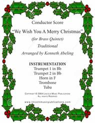We Wish You a Merry Christmas (for Brass Quintet)