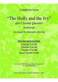 The Holly and the Ivy (for Clarinet Quartet)