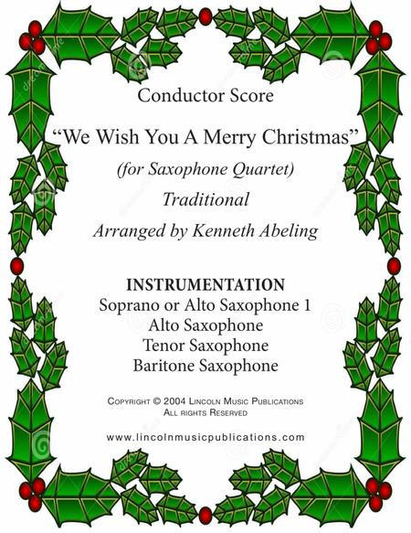 We Wish You a Merry Christmas (Saxophone Quartet SATB or AATB)