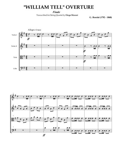 William Tell Overture for String Quartet
