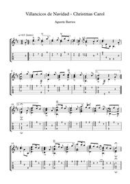 Villancico de navidad Guitar score